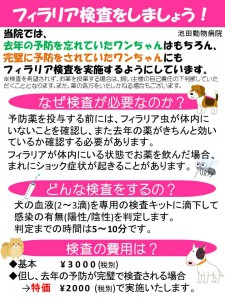 フィラリア検査啓蒙